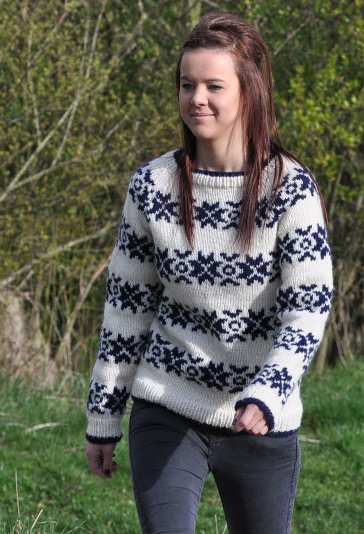 The Killing Snowflake Sweater In Fritidsgarn Snowflake Ftd